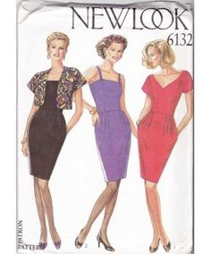 Women's Dresses and Bolero Sewing Pattern New Look 6132 Sizes 8-18 Uncut