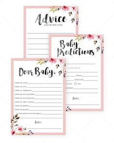 Blush watercolor baby shower activities for girls by LittleSizzle Baby Shower Songs, Fun Baby Shower Games, Baby Shower Activities, Baby Shower Printables, Baby Shower Flowers, Floral Baby Shower, Bridal Shower, Baby Prediction Cards, Baby Sprinkle Invitations