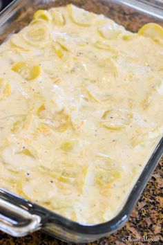 Southern Squash Casserole is a comforting side dish casserole, often served during the holidays, with tender, cooked yellow squash, onions, sour cream and cheddar cheese topped with crushed buttery crackers. Easy Squash Casserole, Southern Squash Casserole, Casserole Dishes, Casserole Recipes, Zucchini Casserole, Cooking Yellow Squash, Yellow Squash Recipes, Summer Squash Recipes, Easy Vegetable Recipes