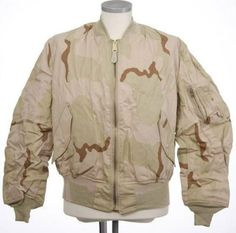 Alpha Industries MA-1 Flight Jacket 3-Color Desert Reversible Medium. Made In The USA.