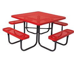 the park catalog.com comes in blue $682 ea Everest Series 46 Square Picnic Table