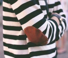 stripes with an elbow patch