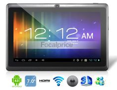 Android Tablet PC with External Playback, Capacitive Touch (Black) Latest Android, Android Apps, Wi Fi, Buy Smartphone, Office Gadgets, Tablets, Ipad Tablet, Cool Gadgets, Cell Phone Accessories