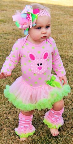 Clothing  Infant Easter outfit Easter tutu  by LilDarlinsBOWtique