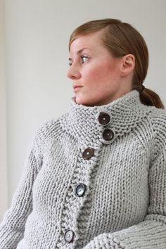 TWIGGY CARDIGAN // top down super bulky sweater by janerichmond, $5.50