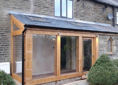 We design traditional timber oak frames, oak orangeries, oak conservatory, oak sun room, porches and oak framed buildings at affordable prices in Lancashire UK. Garden Room Extensions, House Extensions, House With Porch, House Front, Lean To Conservatory, Porch Extension, Glass Porch, Oak Framed Buildings, Porch Kits