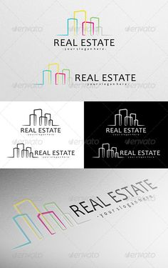 Real Estate Logo — Vector EPS #clean #house • Available here → https://graphicriver.net/item/real-estate-logo/4781454?ref=pxcr