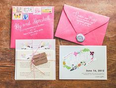 floral + pink wedding invitations // photo by Nessa K // paper goods by Minted Photo Wedding Invitations, Wedding Invitation Envelopes, Invitation Paper, Wedding Stationary, Invitation Design, Invites, Vintage Invitations, Invitation Suite, Wedding Paper