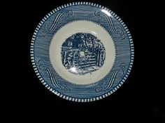 Currier and Ives Royal China Old Farm Gate berry/dessert bowl