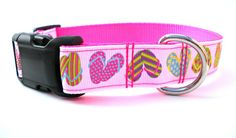 e65513a48e9088 Hot Pink Flip Flops Dog Collar is Adjustable and 1 by StreetThread