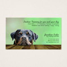 Dog Trainer Business Card Zazzle Com Dog Training Dogs