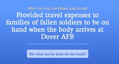 WTF has Obama done so far - One of many reasons I could understand vets punching people out for that