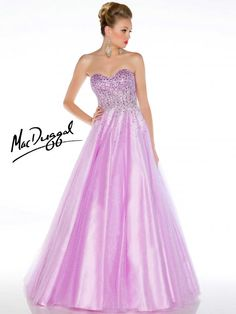Lilac Prom Dress Adorned with Stones | Mac Duggal   Every princesses fantasy.  This dress is full of sparkle!!! From the bodice which is adorned with chunky stones to the tulle skirt that has glitter galore.  Lace up back makes for the perfect fit.  Spoil yourself in this ballgown!