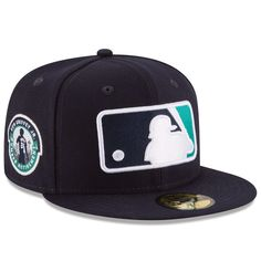 ad73e0948d Men's Seattle Mariners Ken Griffey Jr. New Era Navy Logo 59FIFTY Fitted Hat