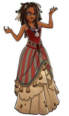 Disney Heroes Battle Mode Tia Dalma by on DeviantArt Caribbean Art, Pirates Of The Caribbean, Black Girl Art, Art Girl, Character Drawing, Character Concept, Tia Dalma, Pirate Art, Library Inspiration