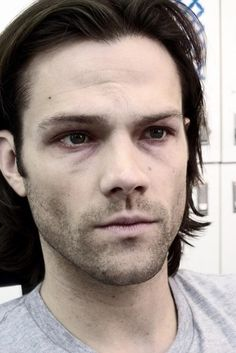 Sam's make up for the last few episodes...very well done. I'd swear he was about to keel over.