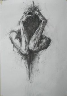 art, drawing, and sad image dark but beautiful in showing the struggle of some