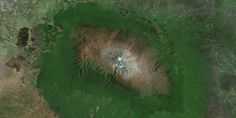Earth from above Monte Kilimanjaro, Amazon Rainforest, Tanzania, Africa, Places, Painting, Beautiful, Paisajes, Pictures