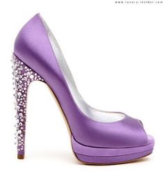 Lilac Crystal Heels-Beautiful!!  If only I could actually wear heels like this....