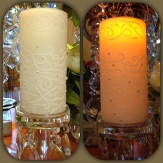 ae18a8dd4e652 Handmade wedding candles LED candles Embossing filigree parchment  Pearl