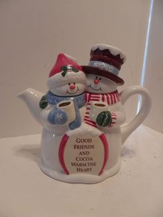 I have several of these for sale. Christmas Town, Christmas Dishes, Christmas Snowman, Rustic Christmas, Vintage Christmas, Tea Cup Saucer, Tea Cups, Vintage Kitchen Accessories, Teapots Unique