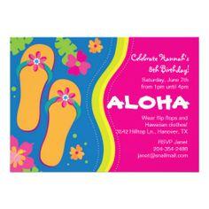 246 En Fiesta Hawaiana  Tus Invitaciones Serán Las Mejores