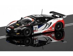 The Scalextric McLaren 12C GT3 is a 1/32 scale slot car and is part of the Scalextric Rally and Road range.
