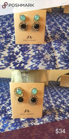 020e0103d158 Trevi Convertible halo stud earrings NWT