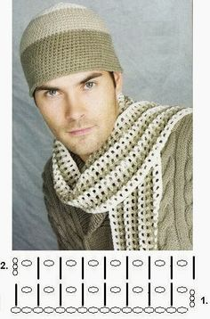 The simplest pattern for a scarf Crochet Mens Scarf, Crochet Cap, Crochet Poncho, Cute Crochet, Crochet Scarves, Crochet Motif, Crochet Clothes, Crochet Bedspread, Crochet Stitches Patterns