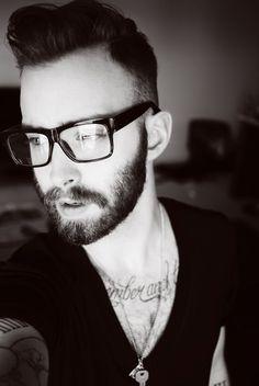 beard.  glasses.  tattoos.