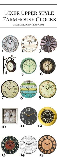 77 Best Farmhouse Clocks Images In 2019 Farmhouse Clocks