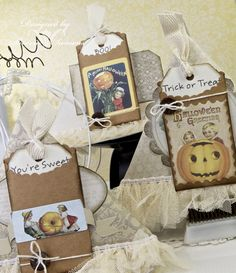card creme: Shabby Chic Treat Bags