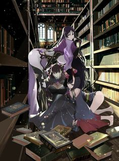 Three Ladies in the library Fan Art Anime, Anime Art Girl, Character Art, Character Design, Fate Servants, Fate Anime Series, Animes Wallpapers, Kawaii Anime Girl, Fate Stay Night