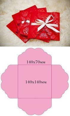 DIY Envelopes for Invitations diy craft crafts diy crafts how to tutorial gift crafts gift ideas Invitation Envelopes, Diy Invitations, Wedding Envelopes, Invitation Wording, Envelope Diy, Wrapping Ideas, Gift Wrapping, Diy Paper, Paper Crafts