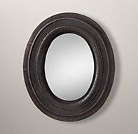 Oval Mirror - Black Restoration Hardware for Family Room