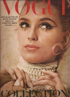 """Pearls. 1965. Pearls were very """"in"""" back in my childhood days. I still have my pearls from back than given to me by my Aunt Marie."""