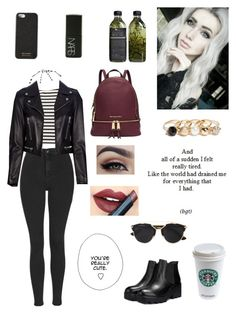"""Untitled #246"" by shope-xo on Polyvore featuring JY Shoes, Monki, Michael Kors, Dolce&Gabbana, GUESS, NARS Cosmetics, Topshop, Fiebiger, Christian Dior and Yves Saint Laurent"