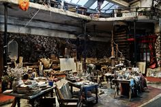 """""""Atelier Nο5″ This is the beautifully bohemian (and slightly mad) small world of French artist Ronan-Jim Sevellec. At 80 years of age, his most recent exposition was in 2012 and saw his boxes of tiny artist's workshops and old antique rooms displayed in various eccentric and romantic locations around Paris."""