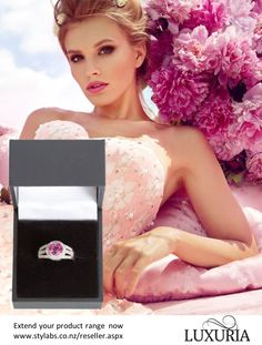 A pink topaz ring from Luxuria Jewellery. Luxuria® is a brand marketed by Stylabs Limited which has offices in Singapore and New Zealand and ships globally to jewellery stores. Stockist enquiries welcome.  Apply at http://www.stylabs.co.nz/reseller.aspx