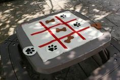 Puppy Themed Tic-Tac-Toe Game for PAW Patrol themed parties Birthday Party Games For Kids, Puppy Birthday Parties, Dog Birthday, Birthday Party Themes, Birthday Ideas, Puppy Party Games, Canada Birthday, 21st Party, Turtle Birthday