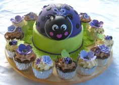 Purple Ladybug By kathyx1 on CakeCentral.com