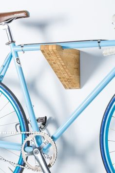 Discover thousands of images about Bike Rack Shelf - Mahogany Wood - Wall Mount - *Burnside* - Also Avail. Diy Bike Rack, Bike Hooks, Bike Hanger, Bike Storage Rack, Bike Shelf, Bicycle Rack, Garage Storage, Velo Retro, Velo Vintage