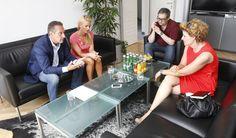 Doppelinterview mit FPÖ-Parteiobmann Heinz Christian-Strache und seiner Lebensgefährtin Andrea Eigner am 08.08.3013 in Wien (Foto: Gerhard Deutsch)