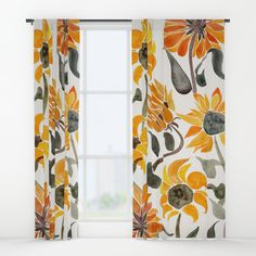 Buy Sunflower Watercolor – Yellow & Black Palette Window Curtains by catcoq. Worldwide shipping available at Society6.com. Just one of millions of high quality products available.