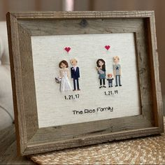 Anniversary Gift Cross Stitch Family Portrait Then and Now Cotton Anniversary Gift Wedding Couple Linen Anniversary Present for Her Gift for 2nd Wedding Anniversary Gift, Anniversary Gifts For Couples, Anniversary Ideas, Gift Wedding, Homemade Wedding Gifts, Homemade Anniversary Gifts, 25th Birthday Gifts, Birthday Gifts For Sister, Cross Stitch Family