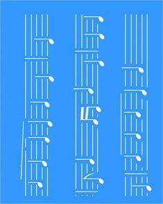 Stencil Notas Musicais 20x25 - OPA