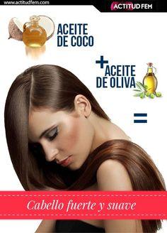 2 cucharadas de aceite de coco + 1 cucharada de aceite de oliva= Mascarilla repadora: