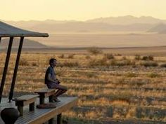 """travelplusstyle: """"Wolwedans Boulders Camp, Namibia The essence of Boulders lies in the tranquility and solitude of its desert location, in the warmth of sunrays, in the afternoon wind, whispering in. Go Camping, Camping Hacks, Desert Location, Fun Deserts, Morning View, Bouldering, Best Hotels, Travel Style, Trip Planning"""