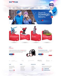 SKI FUN by Raphael Helak, via Behance