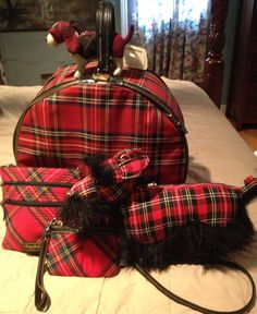 My favorite tartan traveling collection! Always a crowd pleaser! Dooney Burke with other vintage pieces. Tartan Fashion, Women's Fashion, Scottish Clans, Living Styles, Green Backgrounds, Tartan Plaid, Tote Handbags, Outlander, Tweed